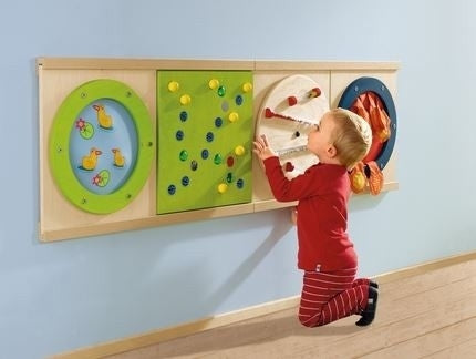 Acrylic Gears Sensory Wall Activity Panel by HABA