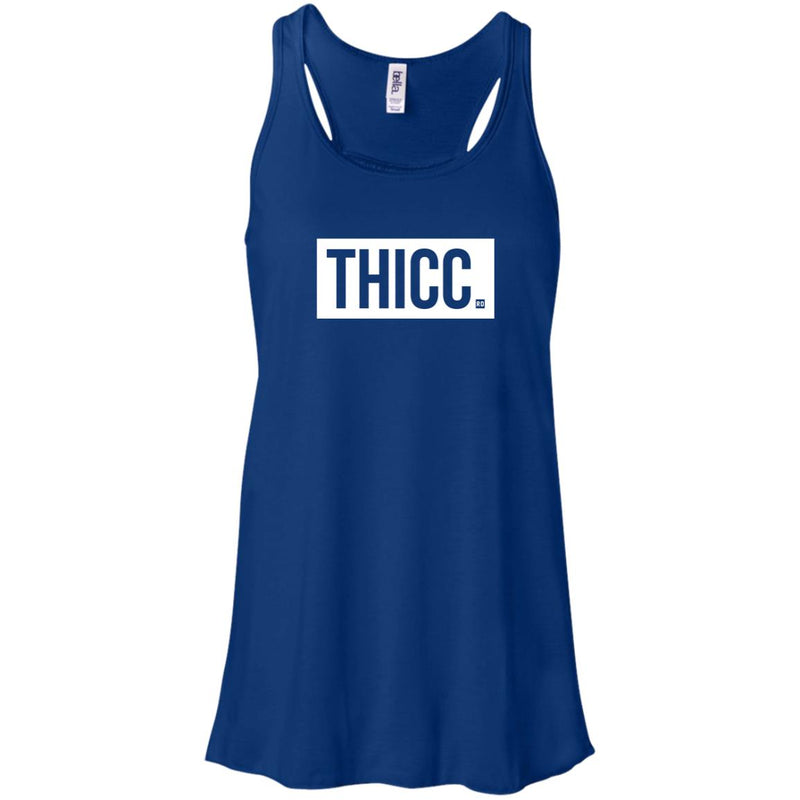 Thicc. Flowy Racerback Tank