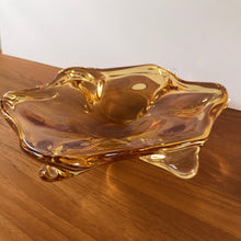 Load image into Gallery viewer, Amber Art Glass Dish