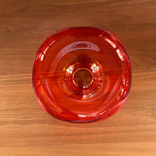 "Load image into Gallery viewer, Vintage ""Viking"" Orange Glass Dish"