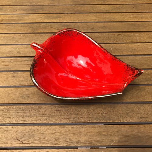 Cal. Style Pottery Orange Leaf Bowl - Small