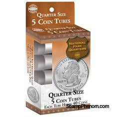 5 Round Coin Tube - Quarter-Coin Tubes-HE Harris & Co-StampPhenom