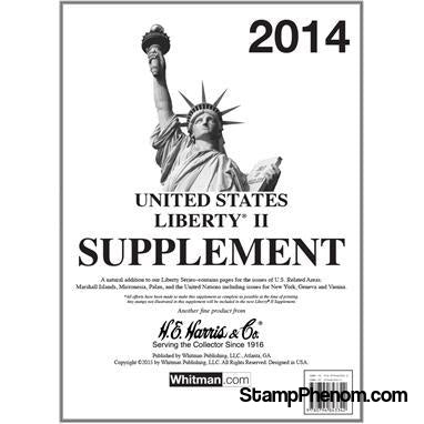 2014 Liberty II Supplement-Album Supplements-HE Harris & Co-StampPhenom