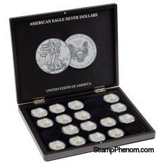 Collector Box - American Silver Eagles-Display Boxes for Round Coin Holders-Lighthouse-StampPhenom