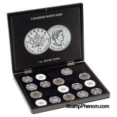 Collector Box - Canadian Maple Leaf Silver Dollars-Display Boxes for Round Coin Holders-Lighthouse-StampPhenom