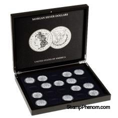 Collector Box - Morgan Silver Dollars-Display Boxes for Round Coin Holders-Lighthouse-StampPhenom