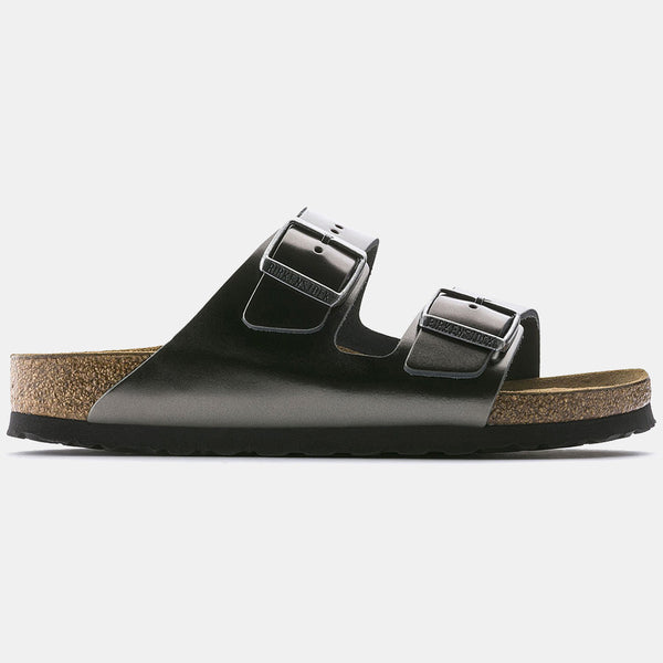 Birkenstock ARIZONA Metallic Anthracite with Soft Footbed