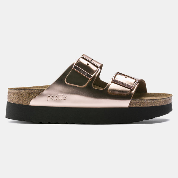 Birkenstock ARIZONA PLATFORM Metallic Copper