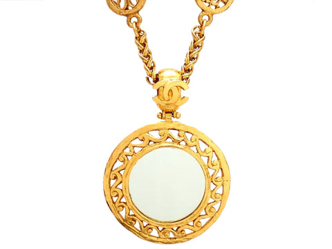 Authentic vintage Chanel necklace Decorative Round Mirror