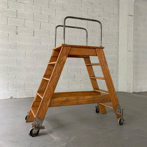Industrial Oak A Frame Ladder By Putnam