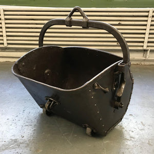 19th Century Industrial Coal Drag Bucket