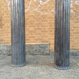 Brushed Steel Columns