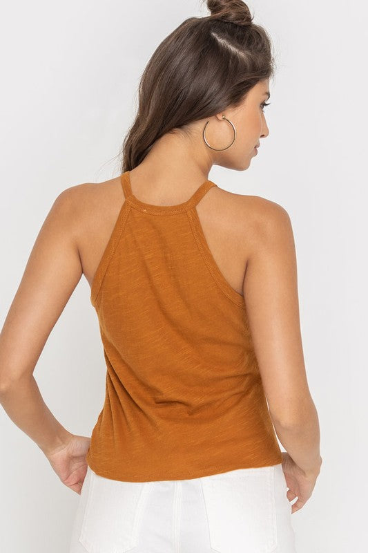 Burnt Orange Twist Tank