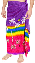 Load image into Gallery viewer, mens-sarong-pareo-wrap-cover-ups-beachwear-swimsuit-bathing-suit-hawaiian-violet