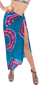 LA LEELA Women Beachwear Bikini Cover up Wrap Dress Swimwear Sarong 27 ONE Size