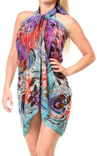 Load image into Gallery viewer, LA LEELA Women Beachwear Bikini Cover up Wrap Dress Swimwear Sarong 27 ONE Size