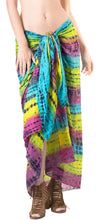 Load image into Gallery viewer, la-leela-bikini-swimwear-wrap-sarong-bikini-cover-up-tie-dye-78x43-yellow_4451