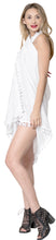Load image into Gallery viewer, la-leela-rayon-bikini-tie-slit-cover-up-beach-sarong-solid-78x39-white_4069-1