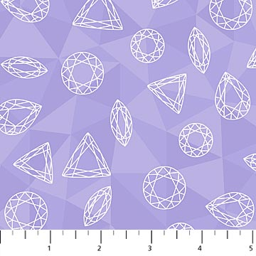 Lavender Gems Cotton Sewing Fabric