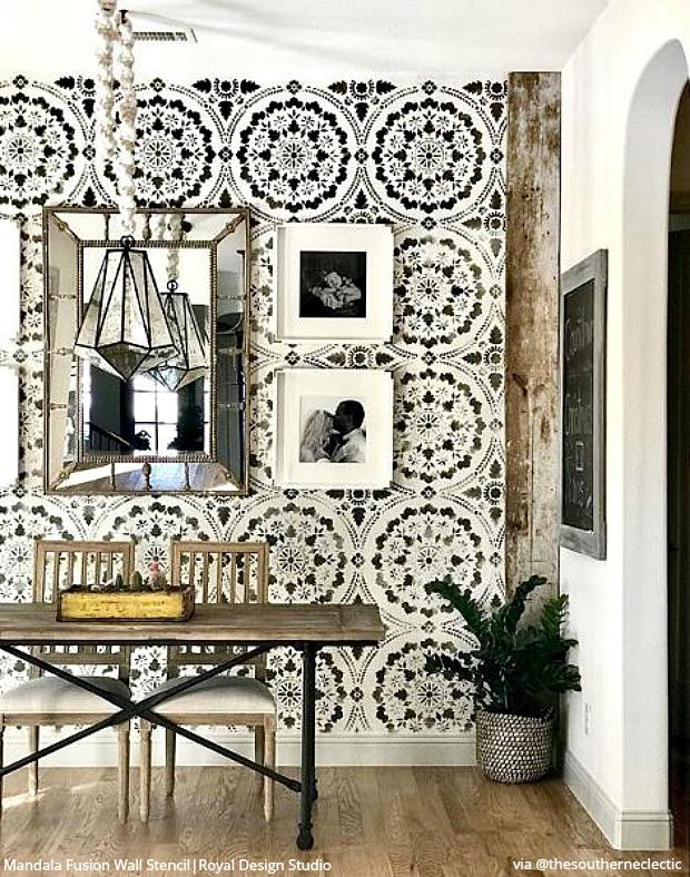 Modern Farmhouse Walls Stencils For Painting Diy Shabby Chic Decor Royal Design Studio Stencils