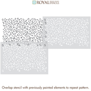 Leopard Spots Wallpaper - Cheetah Spots Wall Design Stencils - Royal Design Studio