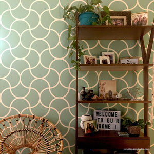 Modern Wall Mural Stencils for Painting Geometric Wall Pattern Stencils - Royal Design Studio