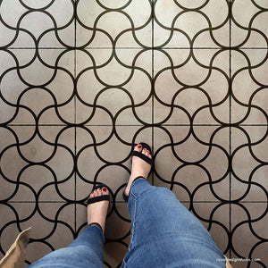 Modern Floor Pattern Stencils - Geometric Tile Stencils for Painting DIY Floor Design - Royal Design Studio