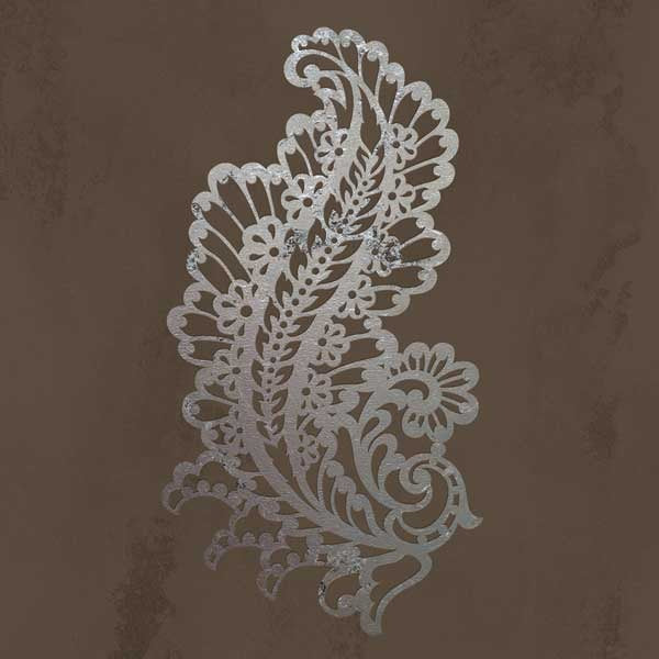 Painted paisley wall stencils for patterned home decor
