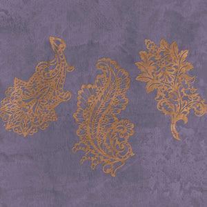 Painted paisley Furniture stencils for patterned home decor