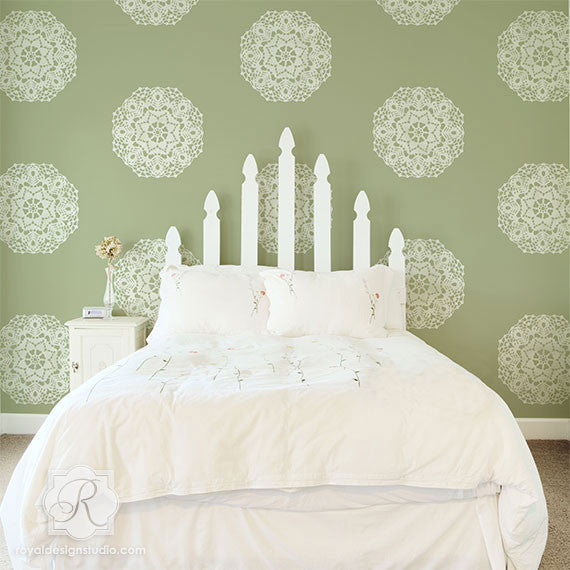 Lace Doily Pattern Wall Stencils for Painting Wall Art - Royal Design Studio