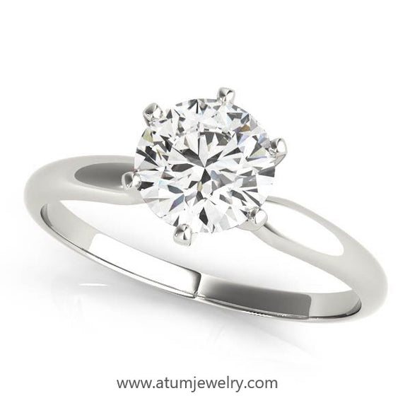 Only $83/mo GIA certified 0.70ct H-SI1 solitaire diamond ring