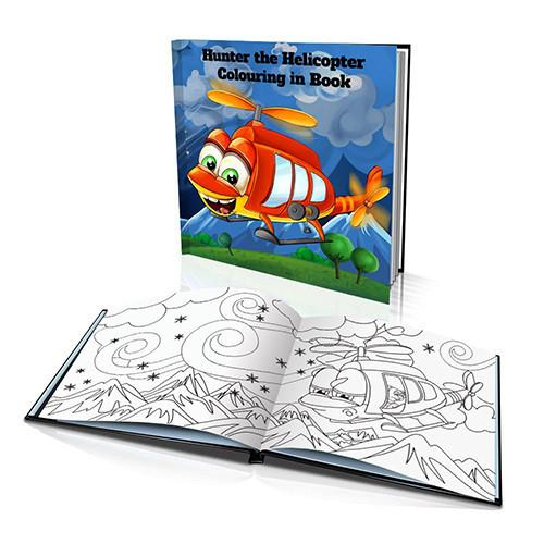 The Helicopter Hard Cover Colouring Book