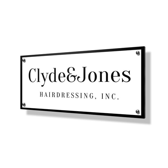 Hairdressing Business Sign - 24x12