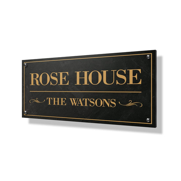 Rose House Business Sign - 24x12