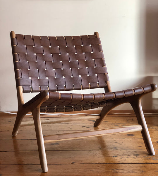 Lounge leather chair