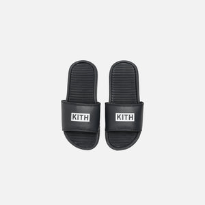 Kith Kids Slides- Black