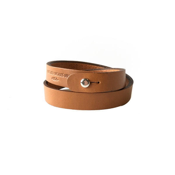 Double Wrap Cuff - London Tan