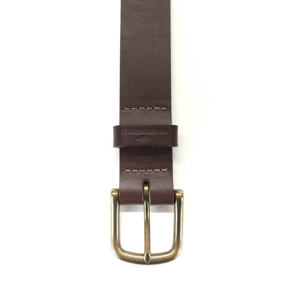 "Classic Belt  1 1/4"" - Chocolate Brown"