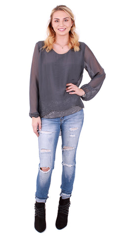 Ombre Sweater Blouse