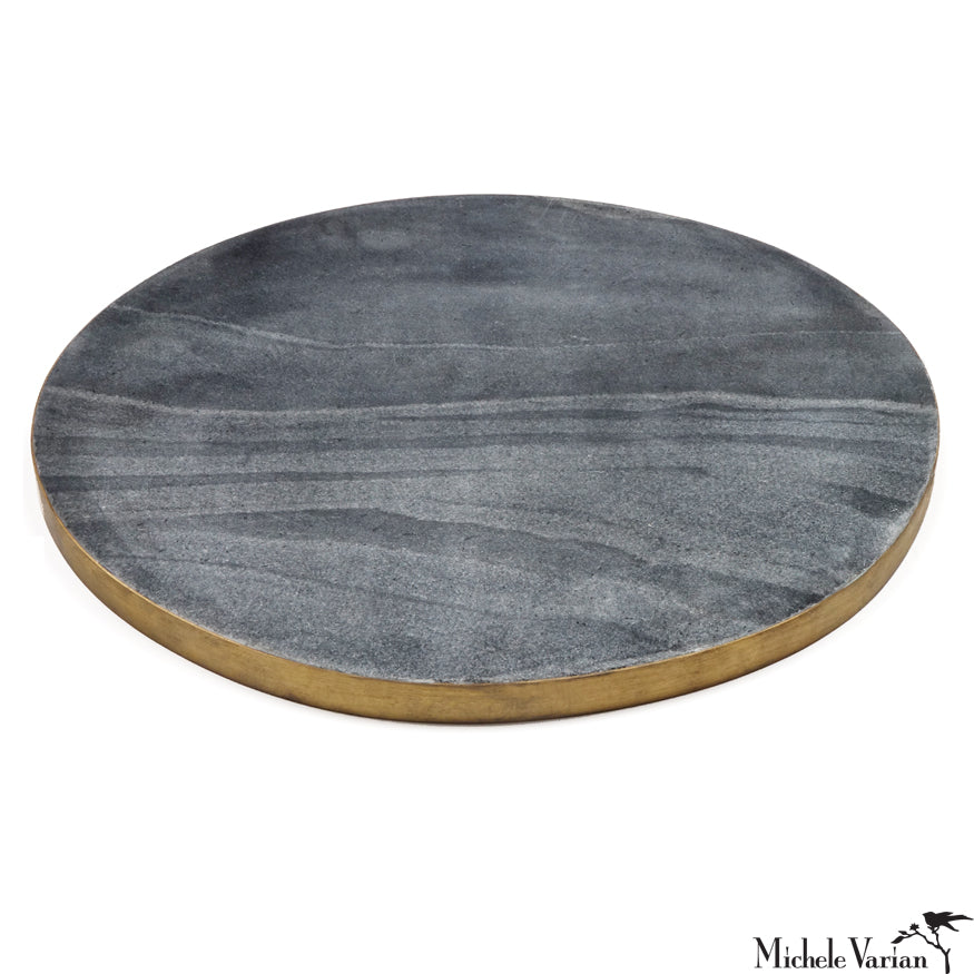 Edged Marble Serving Board