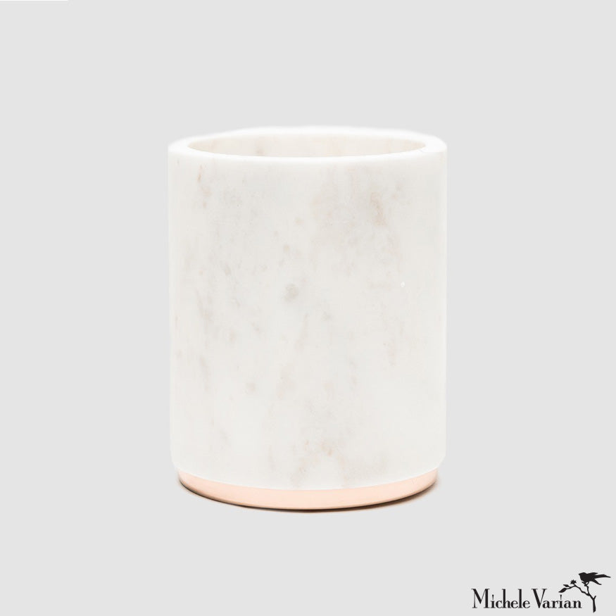 Marble and Metal Vase Or Wine Cooler