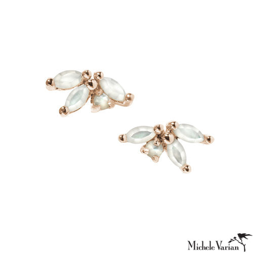 Annais Gold Stud Earrings