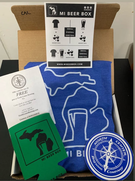 Mi beer box T shirt package 12 month Subscription