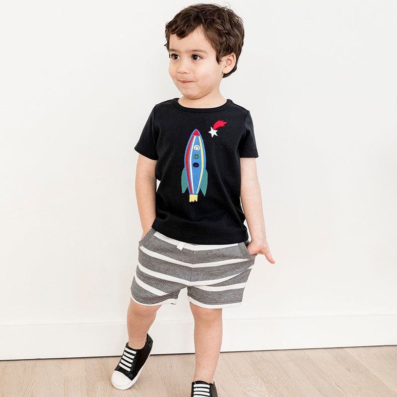 Printed t-shirt for children in cotton