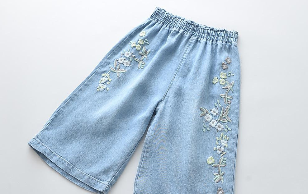 Pant flowers girls cotton