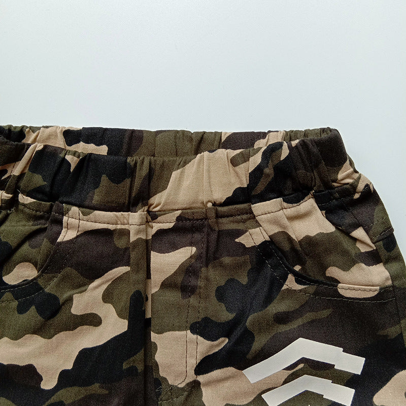 Children's trousers cross-border for cotton camouflage