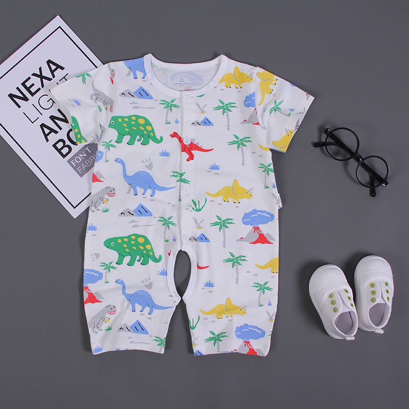 Infant rompers short-sleeved cartoon