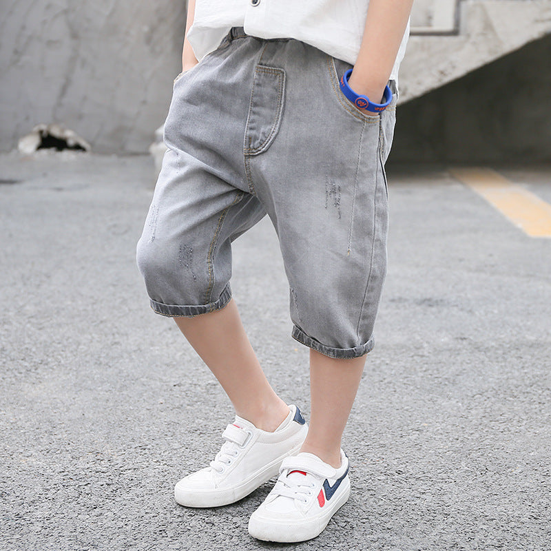 Denim pants boy pocket