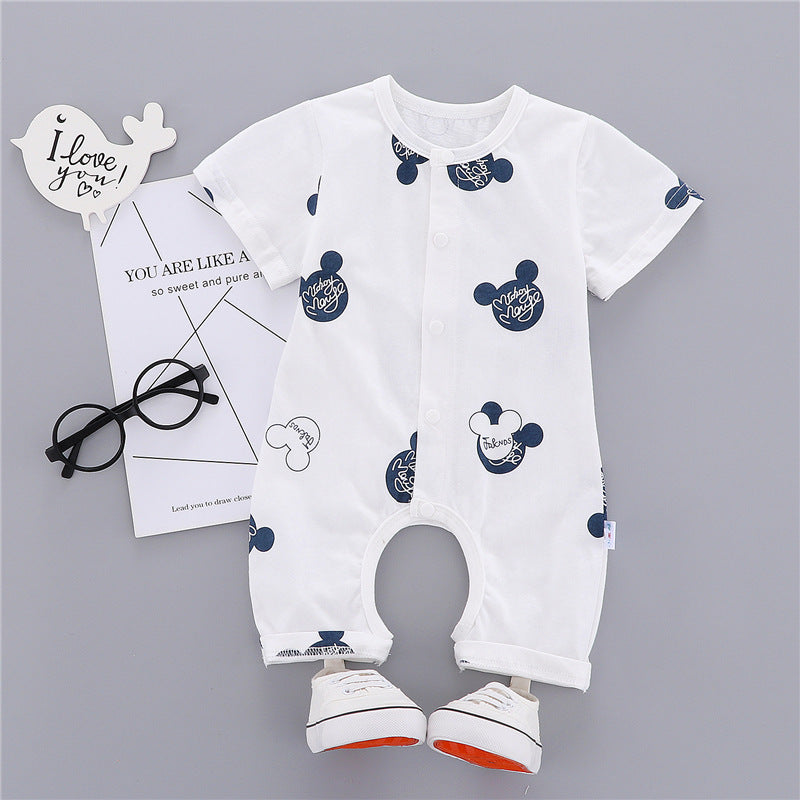 Clothes children's jumpsuit short-sleeved female baby