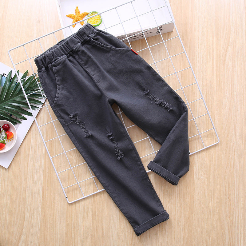 Children's pants  double pockets versatile
